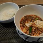 97146023 - 白子入り麻婆豆腐とご飯