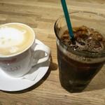 97147975 - ラテアートが可愛い(´,,•ω•,,`)                                              私は毎度のコーヒー1択♪(笑)