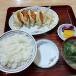 97149924 - ぎょうざ4個定食 650円(税込)