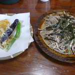 古芳屋 - 天ざる600円。