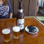 古芳屋 - 瓶ビール600円。
