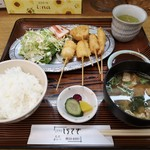 しらさぎ - 串かつ定食