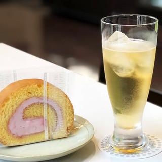 淡海堂 - 料理写真:お酢のソーダ割り 梅 380円('18.9月下旬)