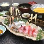 徳造丸 魚庵 - 金目鯛と海鮮串のウニしゃぶ膳