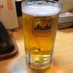 佐兵衛すし - ビールセット 1000円。
