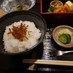 天満橋 吉安 - ご飯、お漬物