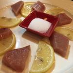 KISHIWADA - ●中トロのお造り●脂が甘くてクリーミーでした!