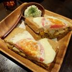 みじんこ - キーマカレーと季節の彩り野菜サンド680円