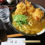 手打ちうどん 団平 - 料理写真:鶏天カレーうどん