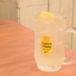 曾さんの餃子 - 瀬戸内レモンサワー@590円