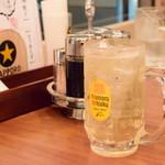 曾さんの餃子 - 瀬戸内レモン角ハイボール@490円
