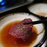 九州地鶏屋 鍋弁慶 - 間違って出てきたw醤油出汁は甘口で美味しかった♪