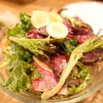 97187106 - 季節野菜のシンプルサラダ マスタードドレッシング