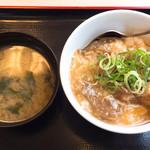 松屋 - あんかけ肉たま丼