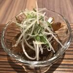 東京割烹 てるなり - 梅色のなめろう。初めての魚です。高知や和歌山での呼び名とのこと。これもお酒が進む\(//∇//)\