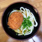松乃家生麺 - コロッケうどん(かけうどん+コロッケ)