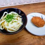 松乃家生麺 - かけうどんとコロッケ
