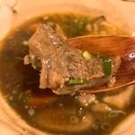 古板弐太鼓 - 煮干し香る牛すじ煮込の中の肉