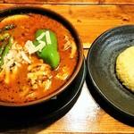 ラマイ - ポーク・辛さ7・チーズトッピング・スープ大盛・ライスS