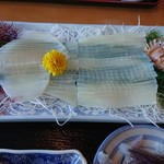 笑ぎょ - 料理写真:2018年11月 活イカ刺(定食) 3800円+税(時価)