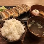 97223919 - ランチ 肉汁餃子ライス ¥630
