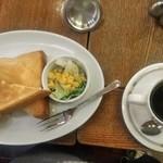 カフェ珈人 - [料理] モーニング:トーストセット 全景♪w