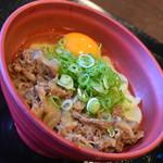はやし家製麺所 - 肉釜玉・1玉(830円)