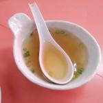 上海軒 - 付いてくるスープ
