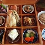 97231809 - 極み御膳 夜の人気料理のアラカルト と 麦ご飯と味噌汁(おかわり自由)