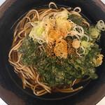 味元 - 料理写真:春菊天そば¥480