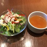 97233269 - サラダとスープ