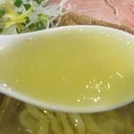 手打式超多加水麺 ののくら - 中華そば 塩