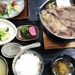 97234615 - 米沢牛鍋定食