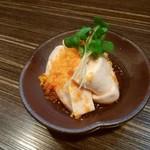 耳 - ぼらの白子ポン酢からすみがけ750円 濃厚で美味しい♬日本酒にピッタリ!