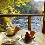 野外テラス 水の音 - 料理写真:アイスサンデー マロン&チョコレート
