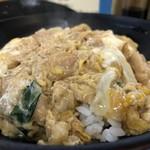 豊福 - トロトロまでは行かなかったけれど、出汁が美味しい親子丼、鶏肉もたっぷりで、なんと550円なんですよ!(2018.11.25)