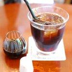 森のCafe - ランチのアイスコーヒー