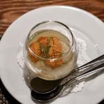 カルナヴァル - 菊芋ムースの雲丹のせ