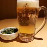 97243799 - 飲み放題のビール+お通し(898円外税)