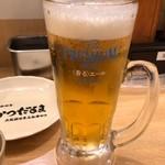 元祖串かつ だるま - 中生ビール 540円。