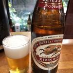 和泉 - ドリンク写真:瓶ビール中550円クラシックラガー