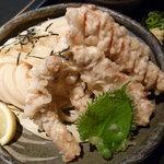 山元麺蔵 - 鶏ささみ天ざるうどん(945円)