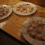 スパニッシュ レストラン チャバダ - エビとチーズのオーロラソース