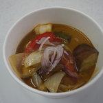 BLANC - 秋野菜とエビのグリーンスープカレー風