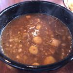 特製もりそば 瑛 - 特製もりそばのスープ