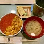 鮨國 - ウニ・イクラ丼