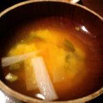 雷門 き介 - 味噌汁