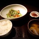 雷門 き介 - 葱塩バンバン定食