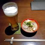 ひのと - 料理写真:生ビール & お通し