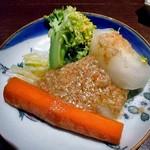 ひのと - 蒸し野菜 カニのバーニャカウダ